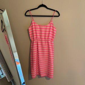 J Crew Striped Neon Dress 4